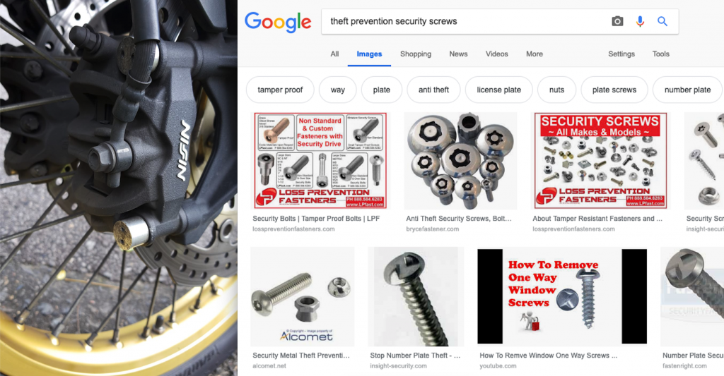 Anti-theft security screws