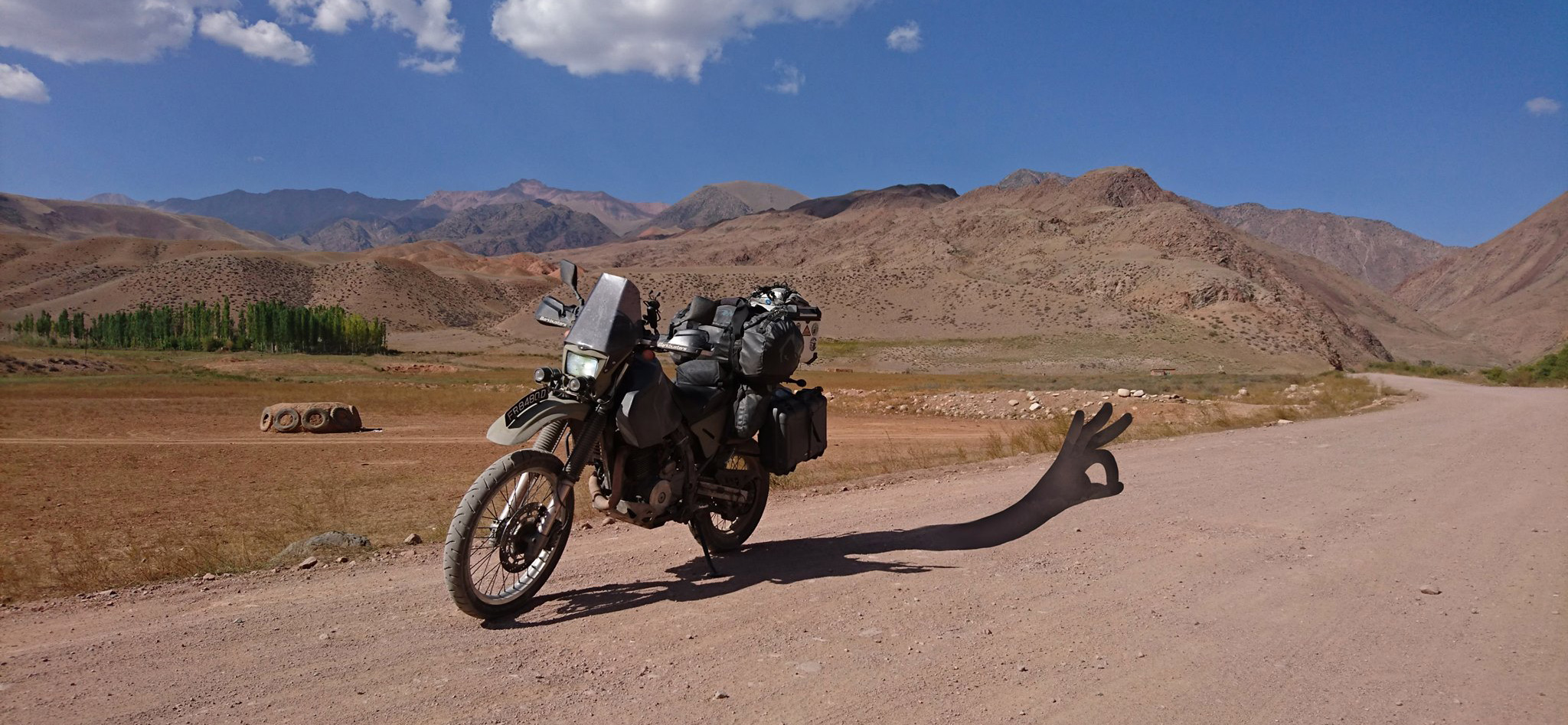 Kazakhstan dr650 motorcycle adventure