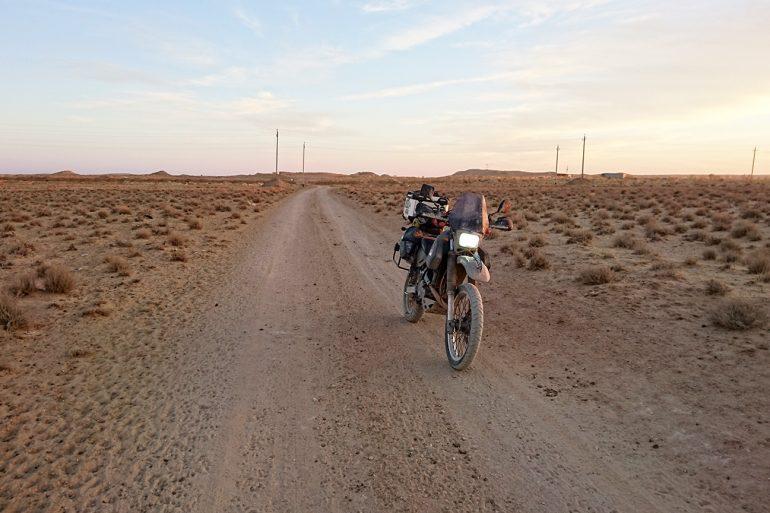 Turkmenistan Karakum desert Motorcycle Adventure