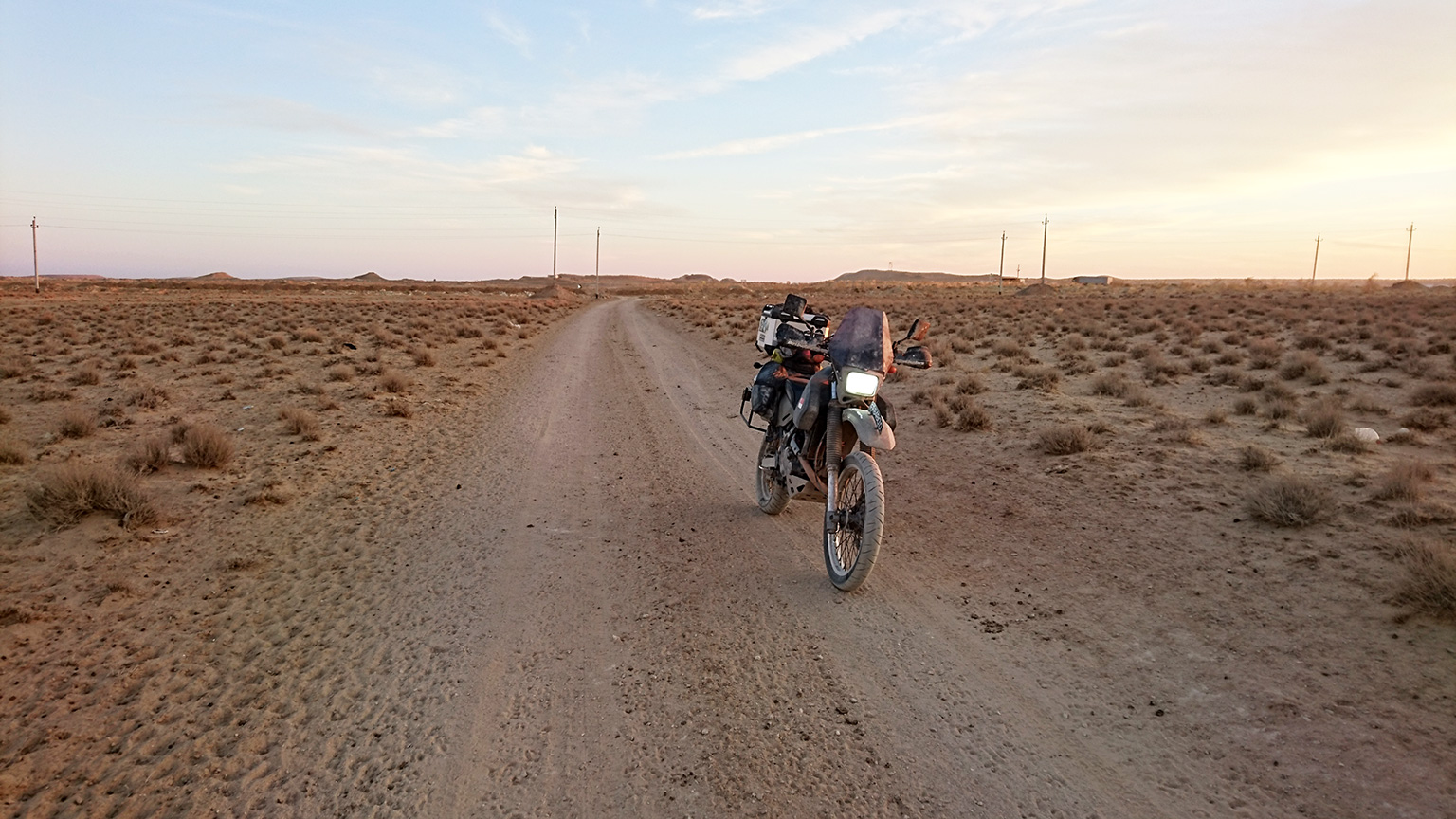 Turkmenistan Karakum desert Motorcycle Adventure