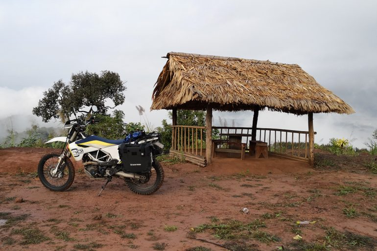 Laos above clouds offroad