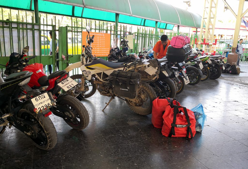 Husqvarna 701 at Chiang Mai train station