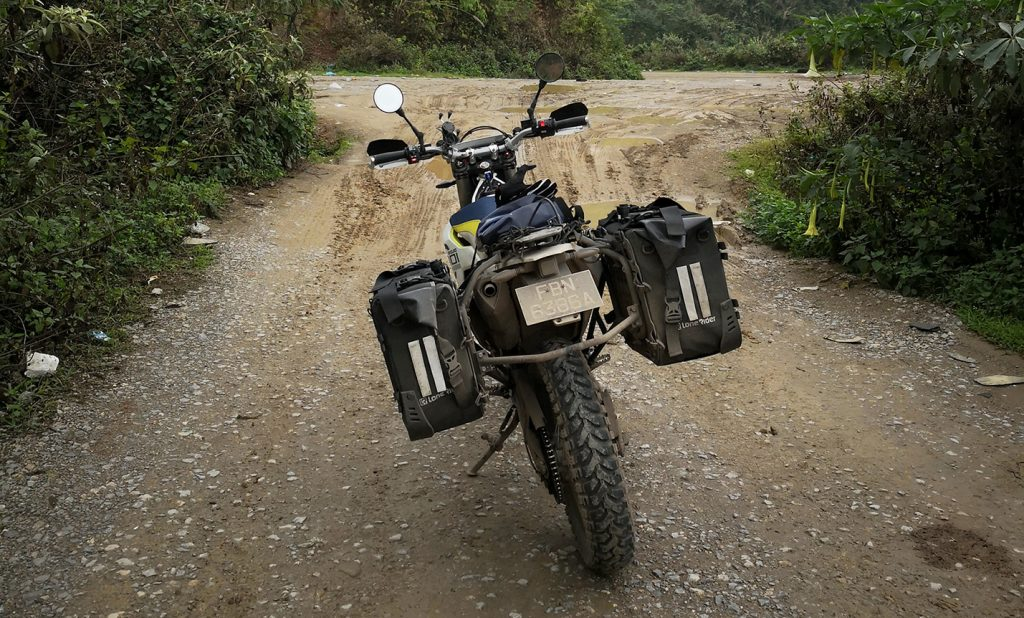 lone rider motobags on husqvarna 701 in laos