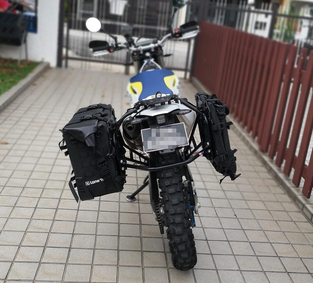 lone rider motobag 31L open