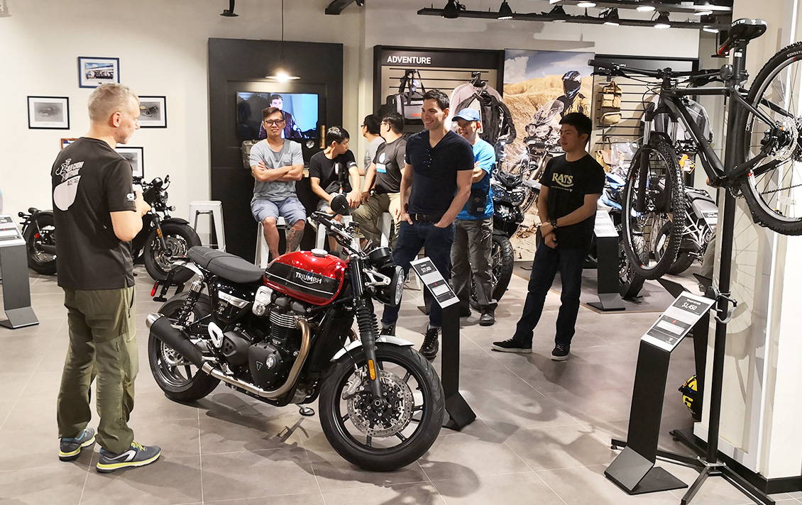 Triumph Singapore offroad clinic briefing