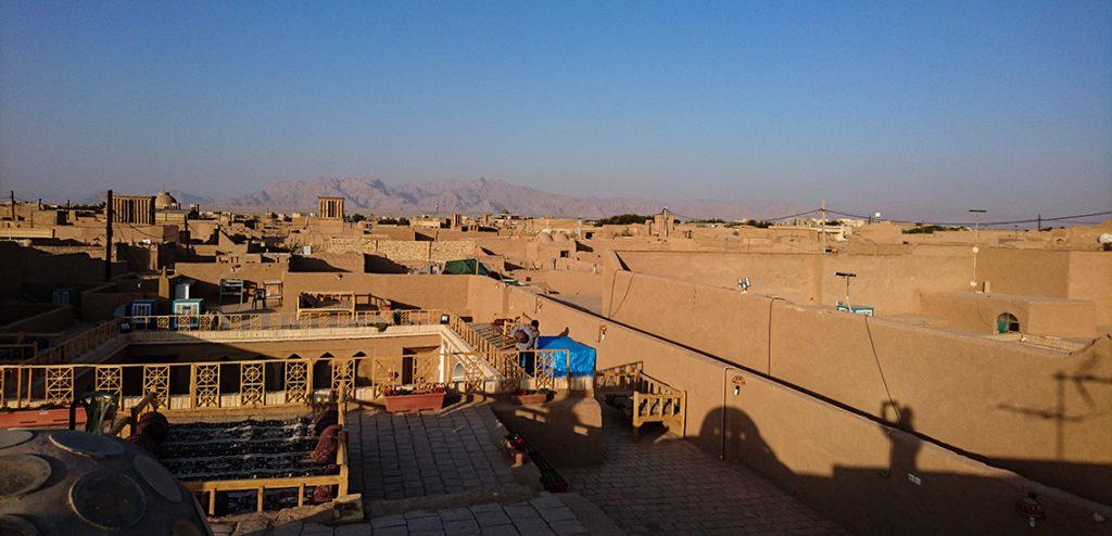 Iran Yazd rooftop