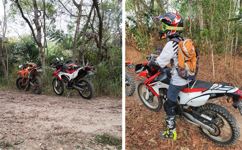 Pregnant motorcycling offroad
