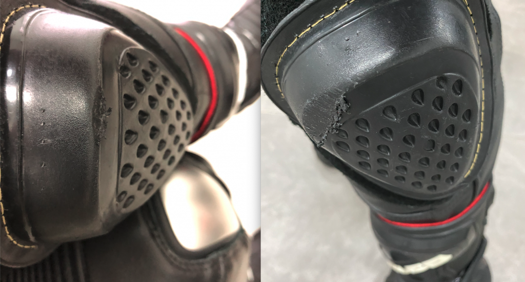 An accidental scuff vs proper contact