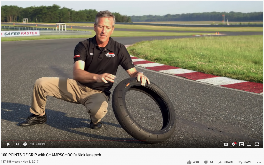 A YouTube video on loading tyres before working tyres