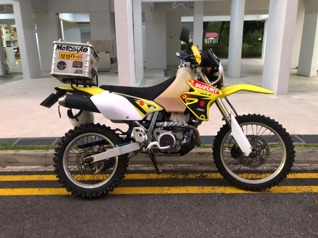 DRZ 400 SM Adventure Set Up, with Knobbies